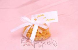 Rózsás szívecske kézműves szappan
