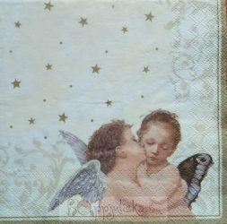 Karácsonyi angyalkás szalvéta