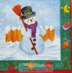 Karácsonyi hóemberes szalvéta