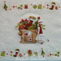 Karácsonyi télapós szalvéta