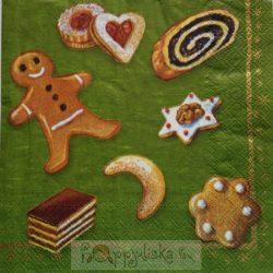 Karácsonyi sütis szalvéta