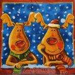 Karácsonyi rénszarvasos szalvéta