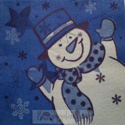 Hóemberes, kék szalvéta