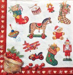 Karácsonyi játékok szalvéta
