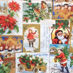 Karácsonyi kisképes szalvéta