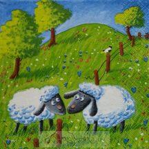 Bárányok a legelőn szalvéta