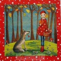 Piroska és a farkas szalvéta