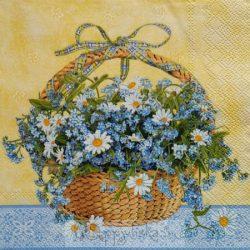 Virág kosárban szalvéta