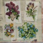 Virágcsokrok szalvéta