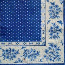 Kék virágos szalvéta