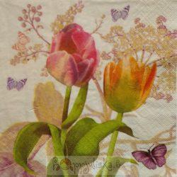 Tulipános szalvéta
