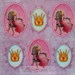 Hercegnők trónon szalvéta
