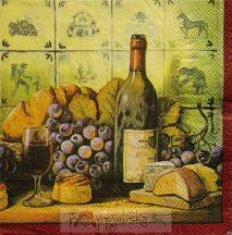 Szőlő bor szalvéta