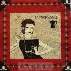 Art deco kávés szalvéta