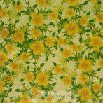 Zöldes sárgás virágos szalvéta