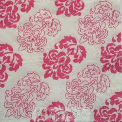 Rózsaszínű virágos szalvéta