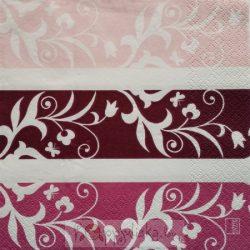 Lila, rózsaszín szalvéta