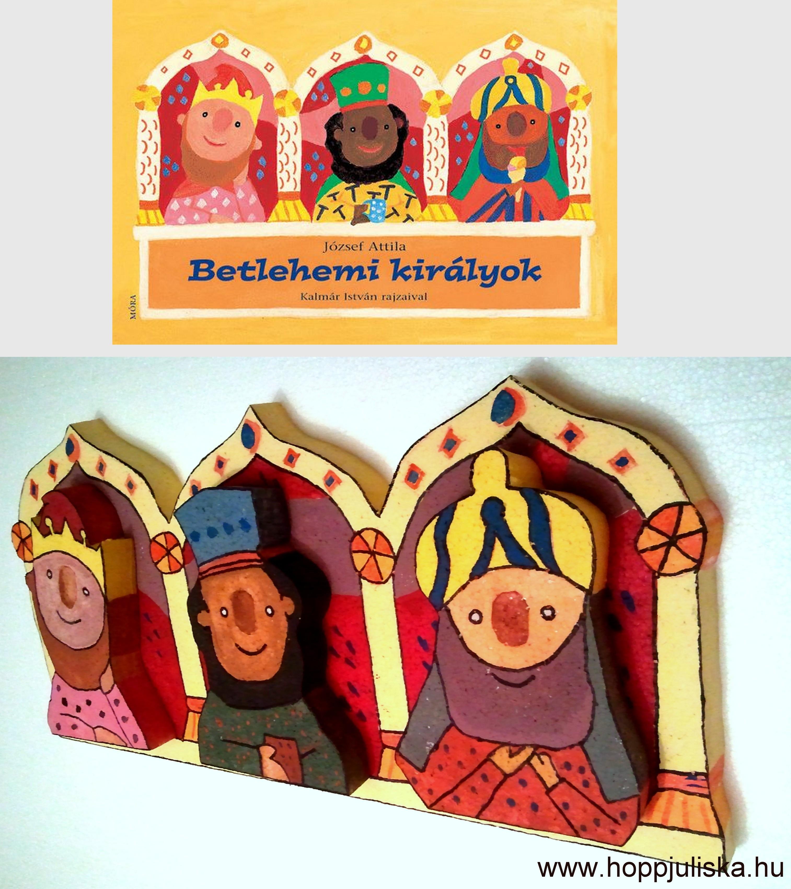 3 királyok mesekönyvborító alapján 2x2D